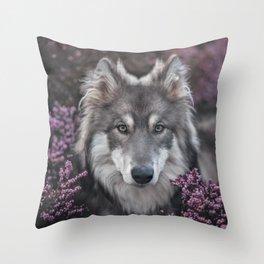 Flower Woof Throw Pillow