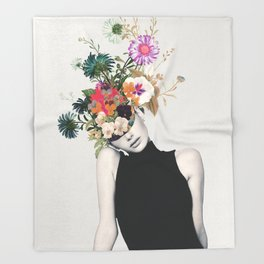 Floral beauty Throw Blanket