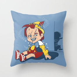 I wanna be a real boy Throw Pillow