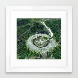 Kondyor Massif Russia Aerial Photography Framed Art Print