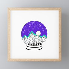 Made of star dust Framed Mini Art Print