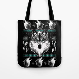 Merry Wolfmas Tote Bag