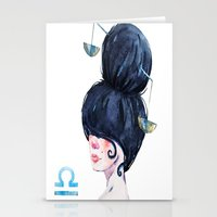 libra Stationery Cards featuring Libra by Aloke Design