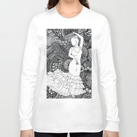spanish Long Sleeve T-shirts featuring spanish dancer by ZINAVARTA
