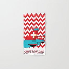 Switzerland by Air Hand & Bath Towel