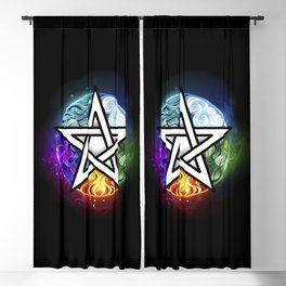Glowing pentagram Blackout Curtain