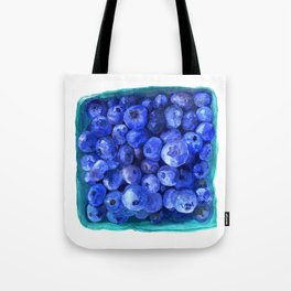 Watercolor Blueberries by Artume Tote Bag