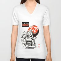 tintin V-neck T-shirts featuring I'm the prophet / Tintin and Snowy by remedact