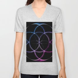 Seed of Life Pattern Unisex V-Neck