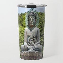 A Monk at the Bronze Buddha Travel Mug
