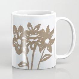 Flower Inverse Paper Cut Coffee Mug
