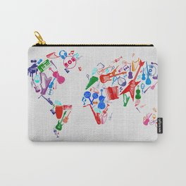 world map music 3 Carry-All Pouch