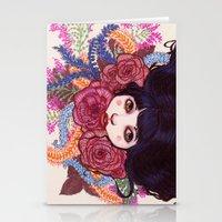 sandra dieckmann Stationery Cards featuring Sandra by Magali Almada