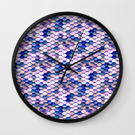 Rose Mermaid Skin Pattern Wall Clock