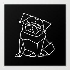 Origami Pug Canvas Print