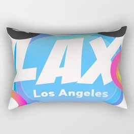 LAX Los Angeles airport code Rectangular Pillow