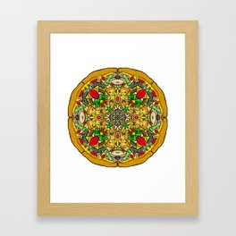 Kaleidescopic Pizza Party Framed Art Print