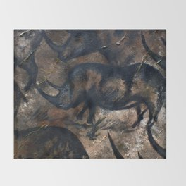 Deep Cave Rhino Throw Blanket