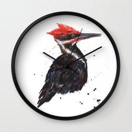 Red Knocker Wall Clock