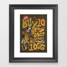 Its a Real Hot-Dog Framed Art Print