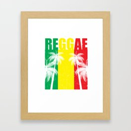 Reggae Jamaican Vacation product Gift Palm Tree Silhouette Framed Art Print