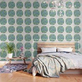 Watercolor Burst – Blue & Green Wallpaper