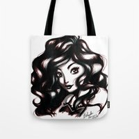 queen Tote Bags featuring Queen by NoodleBeri