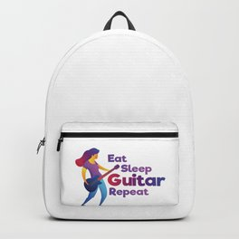 Eat Sleep Guitar Repeat Gift for Girls Backpack