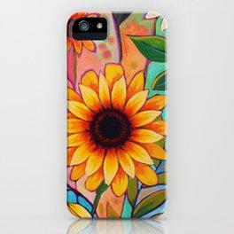 Sunflower Power 2 iPhone Case