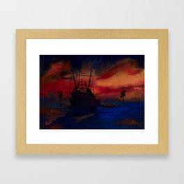 Red sky at night, sailor's delight. Framed Art Print
