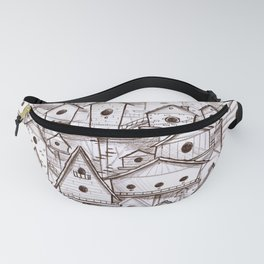 Birdhouse village Fanny Pack
