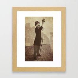 Vintage Selfie Framed Art Print