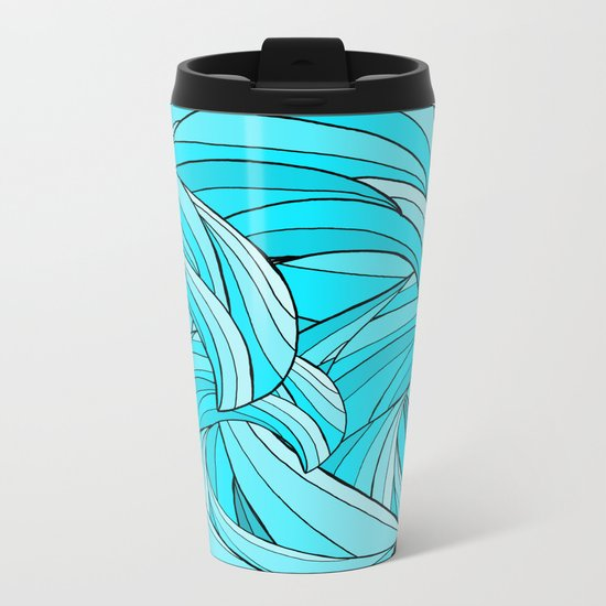 The Waves Metal Travel Mug