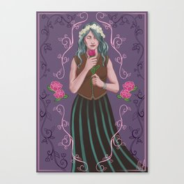 Druid of Flowers Canvas Print