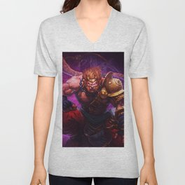 long-tailed macaque Unisex V-Neck