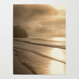 And so it Begins sunrise at Avila Beach California Poster
