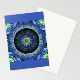 Mandala in Blue and Yellow Stationery Cards