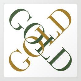 Green Gold Art Print