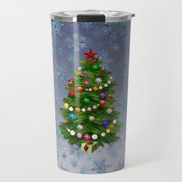 Christmas tree & snow v.2 Travel Mug