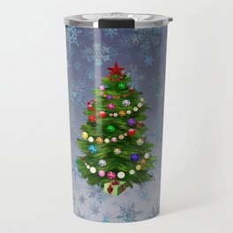 Christmas tree & snow v.2 Travel Mug