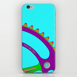 Psychedeli-Cat Chainring iPhone Skin