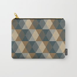 Caffeination Geometric Hexagonal Repeat Pattern Carry-All Pouch