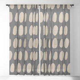 Brush Strokes Gold Sheer Curtain