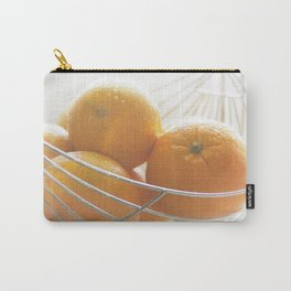 Fresh oranges in basket Carry-All Pouch
