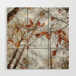 Fall Leaves Wood Wall Art