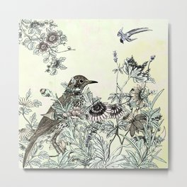 The thrush and a promise of Spring Metal Print