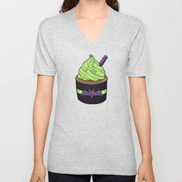 Batty Cupcake Unisex V-Neck