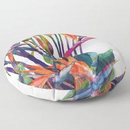 The bird of paradise Floor Pillow