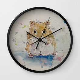 Syrian hamster painting. Wall Clock