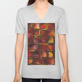 Red Blood Cells in Flow Unisex V-Neck